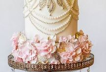 Beaded wedding cakes / Beaded wedding cakes / glamour and Art Deco