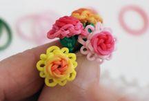 loom bands - květiny
