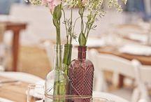 decor: bottles / floral decor inspiration feauring bottles