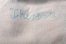 Pullover aus Kaschmir, handbestickt.