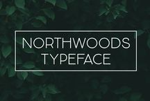 Northwoods Typeface / Introducing the Northwoods Typeface Duo! A handwritten sans serif font duo that is very usable and simplistic.