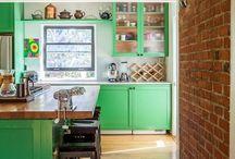 Zöld konyhaszekrény