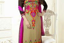Karishma Kapoor - Long Salwar suit collection / Beautiful collection of long salwar suit, georgette & net fabric designer top comes with shantoon fabric bottom & cnaznin hiffon fabric dupatta.