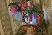 Alberi e fiori di perline
