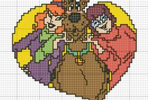 Cartoons - Scooby Doo, cross stitch freebies