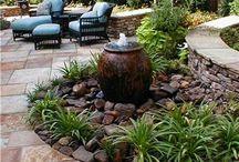 Backyard / Hot tub area