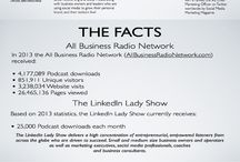 DYK? You can now advertise on the LinkedIn Lady show! / Learn more about how you can sell your products and services to our listeners by contacting Director of Sales Hal Fickett on HalFickett [at] gmail.com now!