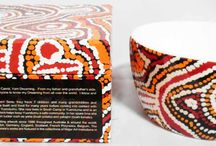 Aboriginal design Nut Bowls / Nut Bowls - Fine Bone China giftboxed with artist details Price:  $20.00 each or any 3 for $55.00