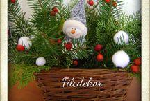 Christmas decorations/Karácsonyi dekorációk