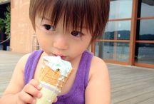 ジェラートを喰らう! Children eat gelato