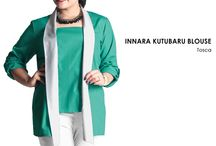 2015 - Innara Kutubaru Blouse / Kutubaru blouse, material Premium Smooth Cotton which specially designed for sophisticated curvy women originally made by Indonesian Designer & Local Brand: Ella Es Bonita.