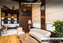 Novart Decorative Wall Coverings / Novawood carries its outdoor product experience and quality to indoors with NOVART Decorative Wall Coverings. The world's new trend in interiors, decorative coverings embellish your interior walls and ceilings by modernizing the traditional look of the wood in three-dimensional. NOVART collections also are intensively used in furniture design and have a very wide usage area.