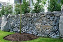 játék a kövekkel, kő dekor.