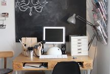 Work Spaces and Chalkboards / Be inspired and organized with these wonderful work spaces.