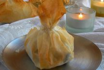 entrante saquito pasta filo y queso