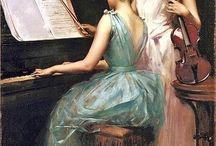 dipinti musica