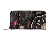 Wallet - My Private Moon / Women Leather Wallet, Limited Edition Designer Leather Wallet COLOURS OF MY LIFE - Limited Edition wearable art signed by Anca Stefanescu.