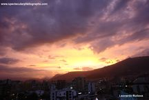 Sunset sequences 24 / Sunset sequences over the Andes, Pichincha Volcano, Quito, Ecuador.