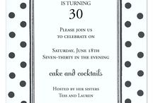 Polka Dot Invitations