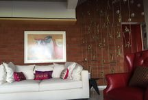 FESTIVE READY / Full of drama and passion, red is a color that can be so visually arresting or can envelop your guests in its warmth. Be it on walls or few accessories...it can make your room come alive..