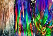 dyed hair •unicorn, rainbow•