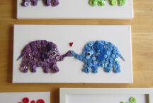 elefantinhos feitos com botões