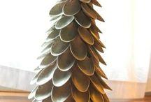 kerstboom v plasticlepels