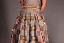 African wedding long dress