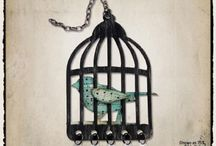 Dies Caged Bird / Including Tim Holtz Caged Bird die / by Melanie Lewis