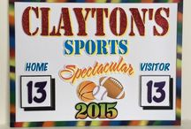 Sports Themed Party Decorations / Any sports decor...baseball, hockey, basketball, lacrosse, soccer, football, etc.