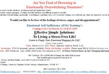 Emotional Self Sufficiency Training Events / All about upcoming workshops and trainings! / by BarBara Whorley Crawford
