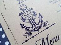 Wedding Menus and Napkin Wraps / Garden, romantic, nautical, skyline, lace, rustic, outdoor and more menu and napkin wraps
