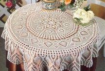Toalha de crochê  para mesa decoração