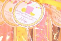 Pink yellow birthday party