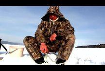 Ловля окуня со льда. Рыбалка на Рыбинском водохранилище.