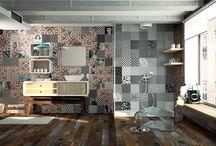 DISEÑOBAÑO / El cuarto de baño es el protagonista de este tablero. Las paredes y el suelo combinado con todo los elementos. En cada PIN una selección de la mejor cerámica y diseño