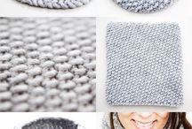 Tricô crochê bordado
