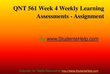 QNT 561 Week 4 Weekly Learning Assignments