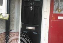 Black Front Doors / The dark Black Front door gives an imposing facade, a firm favourite of our customers heres a selection of the best in black Composite Doors and black front doors. With new manufacturing techniques and our Solidor Timber Composite Doors, we combine traditional style with modern technological advances