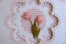 Kaart met tulpen