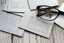 Business cards /  ideas for greyboard and neon / by Alison Bick Design