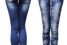 Spodnie Jeans Azteckie Wzory Dopasowane #317 FASHIONAVENUE.PL