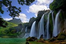 Cao Bang in Top 10 Treks in South East Asia / People visit this watery #wonderland to hike through the mountains and paddle through the springs, rivers, and the infamous #BanGioc Waterfall, With stunning landscapes of mountain, caves, lakes,  Cao Bang province in Northern Vietnam ranks fifth among top ten ideal destinations for trekking tourists, according to SkyScanner