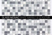 Glass Mosaic Tiles from AllMarbleTiles.com / Glass Mosaic Tiles from AllMarbleTiles.com  Glass and marble mosaic tiles, frosted glass tiles, Clear Glass Mosaics and crackled glass mosaics.  http://allmarbletiles.com/mosaic-tiles/glass-mosaics/
