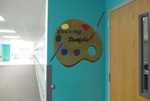High School Hallway Murals / Hallways at ELCHS in Lehigh Acres, Fl
