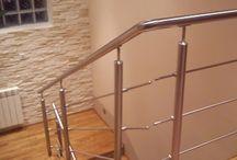 balustrada nierdzewna szlifowana