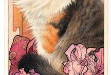 Lesley Anne Ivory CAT / Quadri gatti