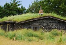 Green Building Techniques / Way to green your building. Cob, straw bale, eco roof, rainwater catchment