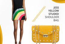 Marla Fiji -Jess yellow Bag  - Italian leather bag