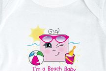 """Beach Life Bodysuits & Tees / Express your beach lovin' self in our adorable """"I'm a"""" beach themed shirts for baby and toddler. Sizes: NB-3T)"""